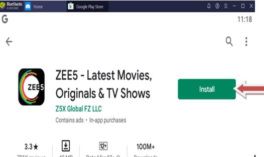 Zee5 App for Laptop