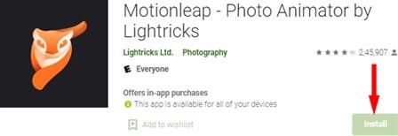 Motionleap Photo Animator for PC