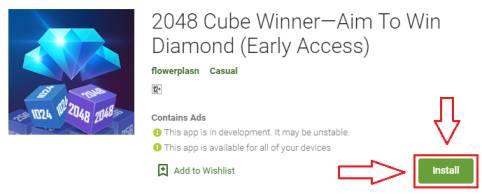 2048 cube winner for pc