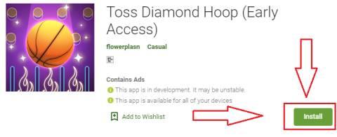 toss diamond hoop for pc