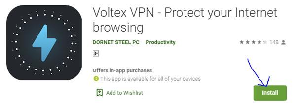 Voltex VPN for Windows