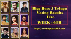 bigg boss 5 telugu voting results today live